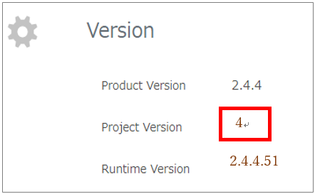"Make sure that the Project Version is ""4"""
