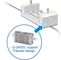 Compact size and low power consumption